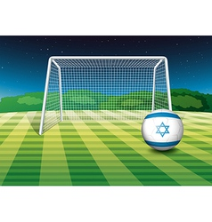 A football field with the flag of israel vector
