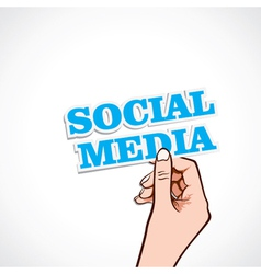 Social media word in hand vector
