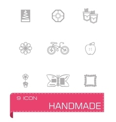 Handmade icon set vector
