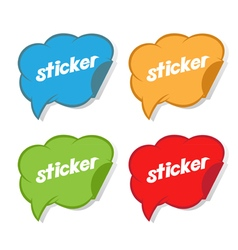 Concept of sticker vector