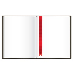 Openned empty book vector