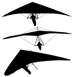 Hang glider silhouette vector