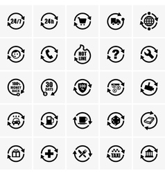 24 hours icons vector