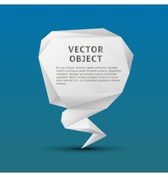 White paper polygon triangle object on blue vector
