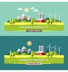 Farm fresh organic products vector