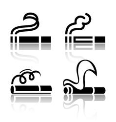 Set of symbols cigarettes vector