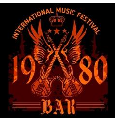 Rock concert poster - 1980s vector