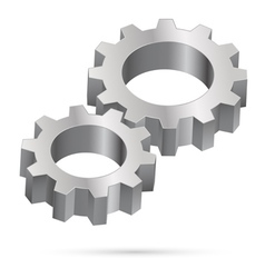 Chrome gearwheel vector