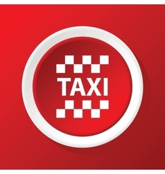 Taxi icon on red vector