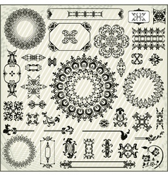 Ornamental pattern with linear background vector