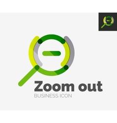Minimal line design logo zoom icon vector