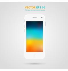 Modern touchscreen cellphone icon vector