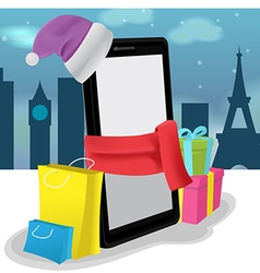 Smartphone mobile shopping buy sale vector