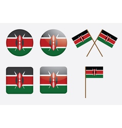 Badges with flag of kenya vector