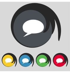 Speech bubble icons think cloud symbols set vector