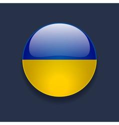 Round icon with flag of ukraine vector