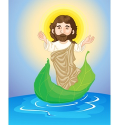 Jesus floating vector