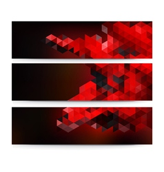 A set of modern technology banners vector