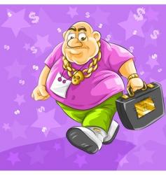 Rich businessman vector