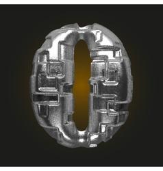 Metal figure 0 vector