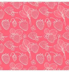 Strawberry pattern vector