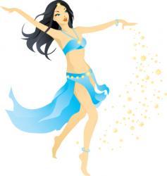 Dance girl vector
