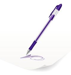 Violet ballpoint pen vector