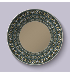 Dish with ornament stylized the ancient roman vector