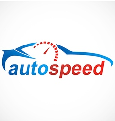 Car automotive speed logo vector