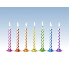 Birthday candles flame fire light isolated vector