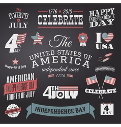 Independence day design elements set vector