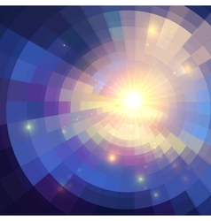Abstract violet shining circle tunnel background vector