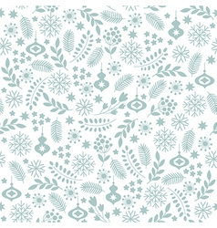 Seamless winter background vector