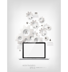 Realistic detalized flat laptop vector