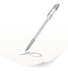 White ballpoint pen vector