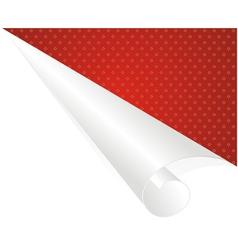 White corner vector