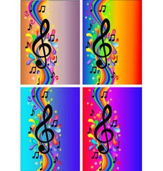 Treble clef background vector