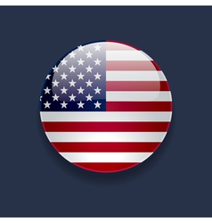 Round icon with flag of the usa vector