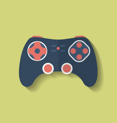 Icon of joystick controller game pad flat style vector