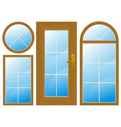 Window door vector