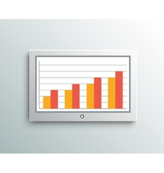 Monitor screen business element vector