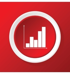 Graphic icon on red vector
