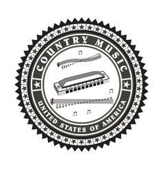 Vintage label country music vector