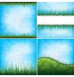 Grass backgrounds vector