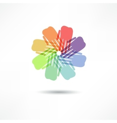 Business icon handshake transaction vector