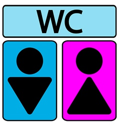 Wc icons vector