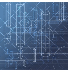Technical drawing abstract background vector