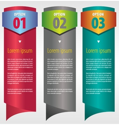 Vertical banner with number vector