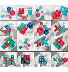 Set of business geometric option steps vector