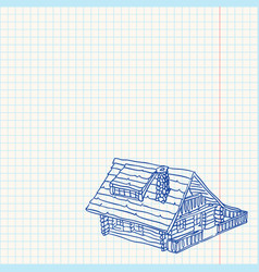 Cottage handmade vector